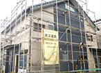 島田市 新築 外観(建設中)